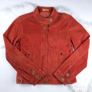 Anthropologie TULLE Burnt Orange Corduroy Jacket